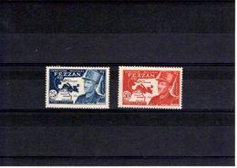 Fezzan N° 52 à 53** Série De 2 Timbres Neufs** - Fezzan (1943-1951)