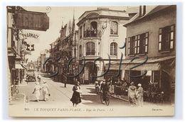 Le Touquet-Paris- Plage - Carte Animée - Rue De Paris / Rue Saint-Jean - Edit. L.L. Sélecta - Le Touquet