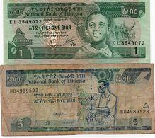 LOTTO ETHIOPIA 1 5 BIRR CIRC. - Monedas & Billetes