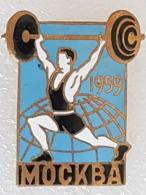 Broche Chpt Monde Moscou 1959 - Brooch World Championships Moscow 1959 - Haltérophilie - Weightlifting - Gewichtheben - Halterofilia