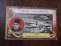 L25/274 CHROMO CHOCOLAT GUERIN BOUTRON . Suedois. Expedition Scientifique Au Pole Nord. NordenSkiold - Guérin-Boutron