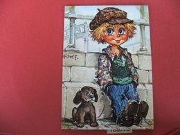 Carte Postale Poulbot Michel Thomas 10x15 Le Voyou - Thomas