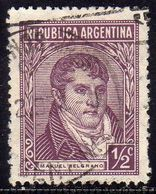 ARGENTINA 1935 1951 MANUEL BELGRANO CENT. 1/2c USATO USED OBLITERE' - Argentina