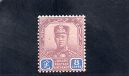 JOHORE 1911-9 * FILIGRANE ROSACE MULTIPLE - Johore