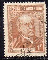 ARGENTINA 1935 1951 DOMINGO F. SARMIENTO CENT. 1c USATO USED OBLITERE' - Argentina