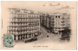 CPA ALGERIE - 272. ALGER - Rue D'Isly - Dos Simple (animée, Tramway) - Algeri