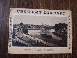 L25/275 CHROMO CHOCOLAT LOMBART . Nantes. Les Quais . Vue Generale - Lombart