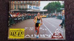 CPSM CHAMPIONNAT DE FRANCE DE MARATHON VETERANS 16 09 1984 ALBI DANIEL DUHAMEL VAINQUEUR EN 2H 24 ED APA POUX - Atletismo