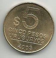 Uruguay 5 Pesos 2003. - Uruguay