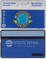 283/ Mauritius; Landis, P3. State Bank; 50 Ut., CP 302A - Mauritius