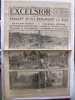Journal EXCELSIOR 17 Octobre 1918 LENS CAMBRAI ARMENTIERES LA BASSEE COURTRAI - 1914-18