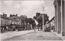 CPSM SAINT VINCENT DE TYROSSE (40) La Route De Bayonne, Café Du Centre, Commerces - Saint Vincent De Tyrosse