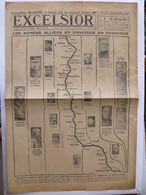 Journal EXCELSIOR 1 Septembre 1918 Les Armées Alliées Et Ennemies En Présence Foch Pétain Von Hindenburg Vimy à Soissons - 1914-18