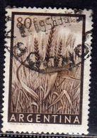 ARGENTINA 1954 1959 WHEAT TRIGO GRANO CENT. 80c USATO USED OBLITERE' - Argentina