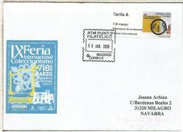 CC CON ATM FERIA DE VILLANUEVA DE LA SERENA BADAJOZ MAT PUNTO FILATELICO MADRID - 2011-... Briefe U. Dokumente