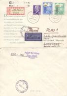 DDR 1375/76,936 Auf Retour-R-Brief Nach Sarajevo - Lettres & Documents
