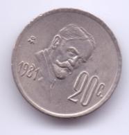 MEXICO 1981: 20 Centavos, KM 442 - Mexico