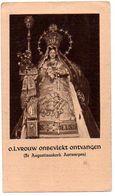 Antwerpen Sint Augustinus Kerk Olv Onbevlekt Ontvangen Devotieprent Devotie Bidprentje Prentje - Images Religieuses