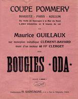 18829-M- PROSPECTUS 21X28CM   BOUGIE ODA   COUPE POMMERY BIARRITZ-PARIS KOLLUM ETS H SANTAGNE  PARIS - Advertising