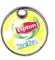 Jeton De Caddie En Métal - Lipton Ice Tea - Thé Glacé - Jetons De Caddies