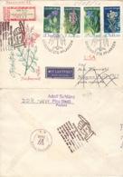 DDR 1564/67 Auf Retour-R-Brief In Die USA - Lettres & Documents