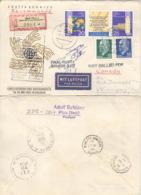 DDR 1575/76 Dreierstreifen,846,937 Auf Retour-R-Brief Nach Canada - Lettres & Documents