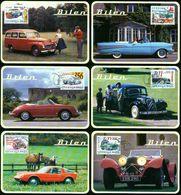 Mk Sweden Maximum Card 1997 MiNr 2019-2024   Cars, Volvo, Chevrolet, Porsche, Citroen, Saab, Jaguar - Tarjetas – Máxima