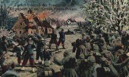 """FELDPOST Kriegs-Karte """"Zurückdrängen Der Franzosen Und Engländer An Der Straße Ypern-Pilkem."""" 1914/15 WWI WWICOLLECTION - Ieper"""