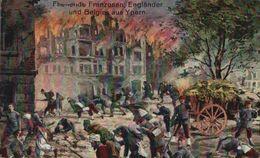 Feldpostkarte FELDPOST Fliehende Franzosen, Engländer Und Belgier Aus Ypern 1914/15 WWI WWICOLLECTION - Ieper