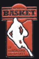 65581- Pin's-Basketball.Mondial Basket.Magazine.Presse.signé Media4. - Baloncesto
