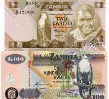 LOTTO ZAMBIA 2 /100 KWACHA UNC - Monedas & Billetes