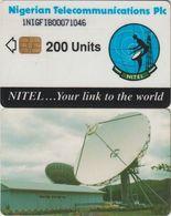 314/ Nigeria; Satellite, PLC, 200 Ut., 1NIGFIB, Bold Number - Nigeria