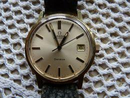 OMEGA Genève - Montre Ancienne Automatic  Homme -  Bracelet  Cuir D'origine  - Année 1965 - Montres Anciennes