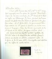 Vignette Suisse Sur Fragment Prisonniers Français En Suisse Cote 450€ - 1870 Siège De Paris