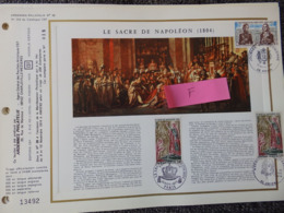 FEUILLET CEF N° 253 ARDENNES PHILATELIE N° 39 LE SACRE DE NAPOLEON 1804 TIRAGE 200 EXPL CELUI CI N° 18 - FDC
