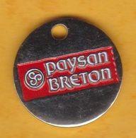 Jeton De Caddie En Métal - Paysan Breton - Lait & Produits Laitiers - Einkaufswagen-Chips (EKW)