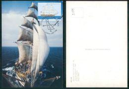BARCOS SHIP BATEAU PAQUEBOT STEAMER [ BARCOS # 03519 ] - PORTUGAL MAXIMO AMERIGO VESPUCCI ITALIA - Voiliers