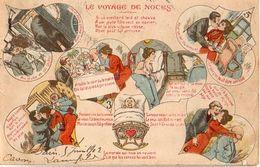 Cocu - Le Voyage De Noces, Vieillard Laid Et Jeune Fille, Les Cornes Lui Vont Bien - Humour