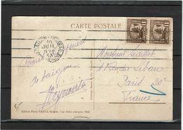 CTN63 - INDOCHINE CPA SAÏGON / PARIS 10/7/1933 - Indochina (1889-1945)