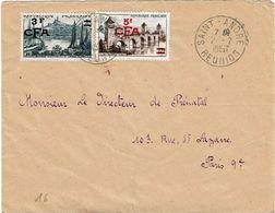 CTN63 - REUNION LETTRE SAINT ANDRE 2/2/1957 - Reunion Island (1852-1975)