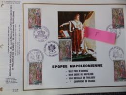 FEUILLET CEF ARDENNES PHILATELIE N°41 PHILATELIE DE FRANCE N°1 EPOPEE NAPOLEONIENNE TIRAGE 500 EXEMPLAIRES - FDC