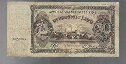 Lettonia Latvia Latvijas 1935 20 Latu Pick#30a Lotto 1921 - Letland