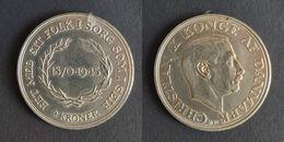 Denemarken 2 Kroner, 1945 75th Anniversary - Birth Of King Christian X KM# 836 - Denemarken