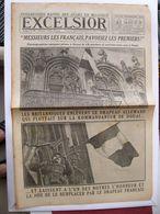 Journal EXCELSIOR 21 Octobre 1918 DOUAI Nord Messieurs Les Français Pavoisez Les Premiers - 1914-18