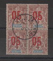 Anjouan 1912 Bloc De 4 Du 21 Oblitéré - Used Stamps