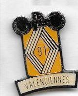 Pin's  Ville, Automobile  RENAULT  VALENCIENNES  91  ( 59 ) - Renault