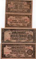 LOTTO PHILIPPINES 0,50,1,5,10 PESOS TAGBILARAN - BOHOL 1942 VF+XF - Monedas & Billetes