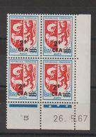 Réunion CFA 1967-68 Blason Auch Surchargé 373 Coin Daté ** MNH - Unused Stamps