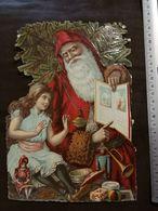DECOUPIS ANCIEN -  PERE NOEL -  CHOCOLAT SAINTOIN - GRAND FORMAT - Vieux Papiers