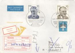 DDR 3300/01,2831 Auf Retour-Brief Nach Ungarn - [6] Democratic Republic